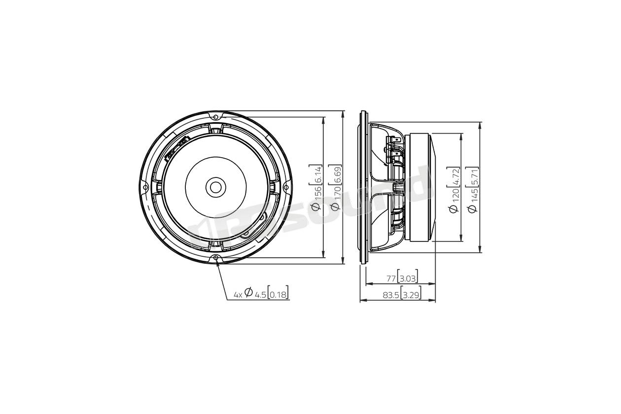 Lavoce Waf061 80 Woofer 165mm 6 5 Pollici