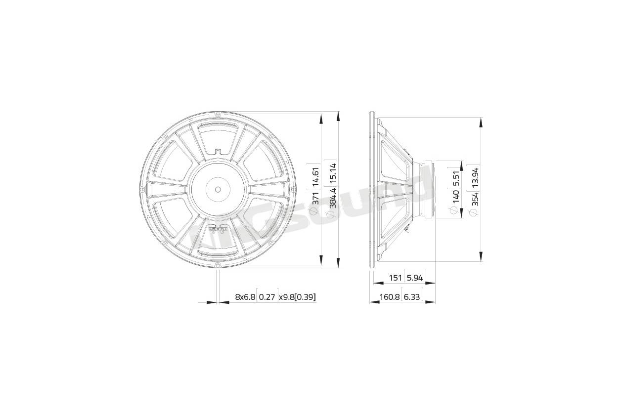 Lavoce Wsf152 02 Woofer 380mm 15 Pollici