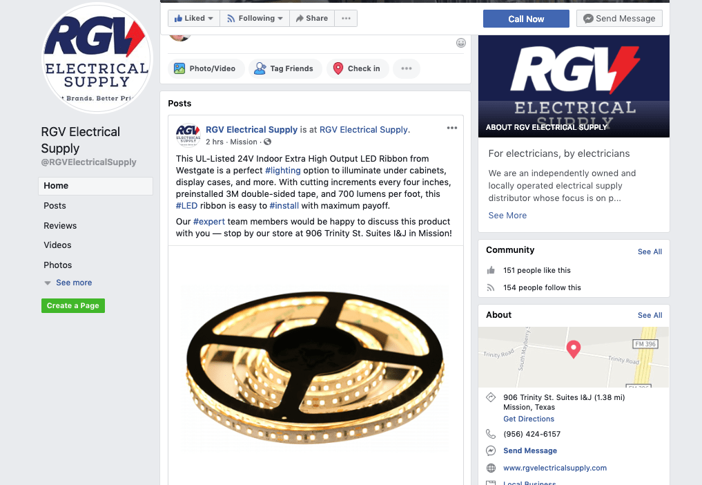 RGV Electrical Supply is on Facebook!