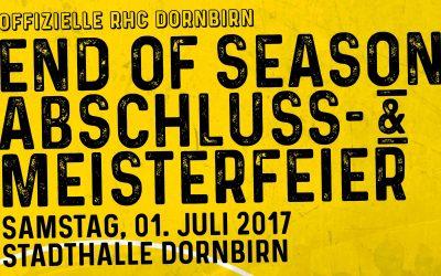 "Offizielle ""End of Season"" Abschluss- & Meisterfeier!"