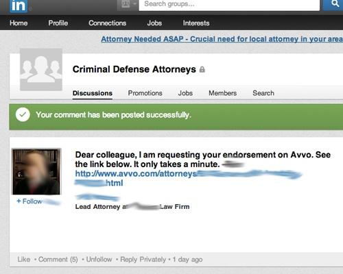 Lawyer Endorsement 1