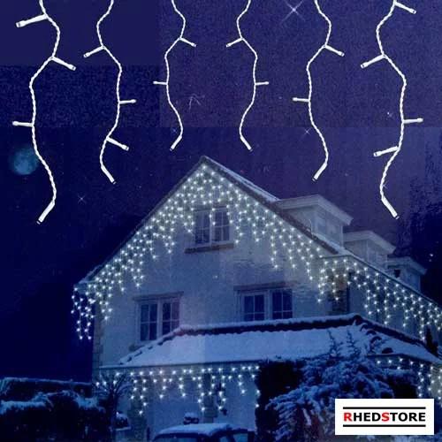Eiszapfen Lichterkette FlashMotion 24M kaltweiß