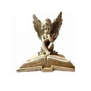 Grabschmuck Grablicht Grabbuch Engel mit dem Buch