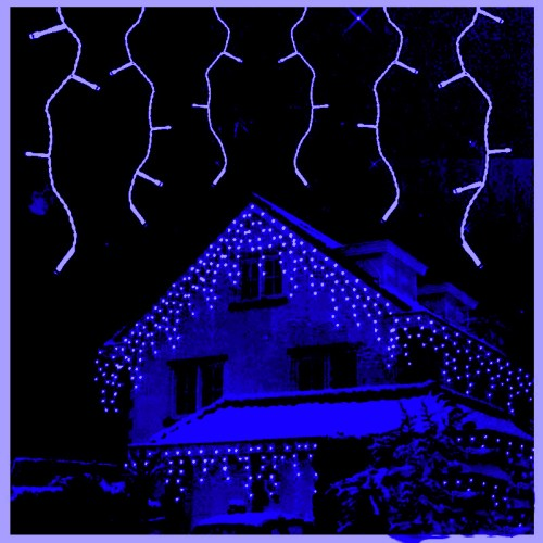 eiszapfen lichterkette NoMotion blau