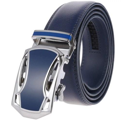 Herrengürtel Herren Gürtel mit automatik Gürtelschnalle Blau Sommer