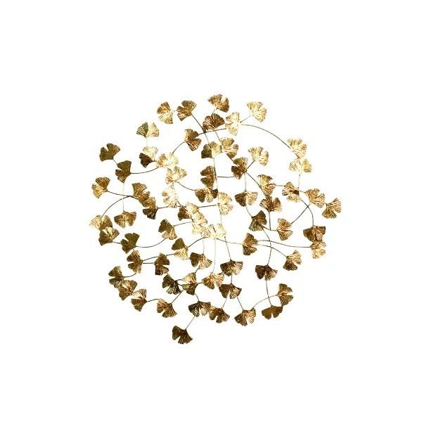 Wandobjekt Gingko, gold