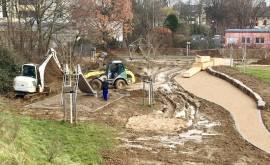 Spielplatz Sportpark Oberlar Bau