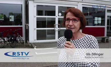 Gebäudeschriftzug der Kopernikus-Realschule abmontiert