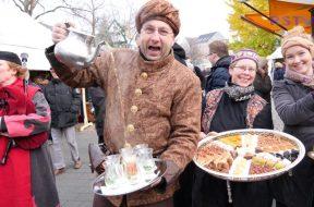 Mittelalterlicher Markt zur Weihnachtszeit