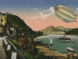 Blick von Rolandswerth auf das Siebengebirge