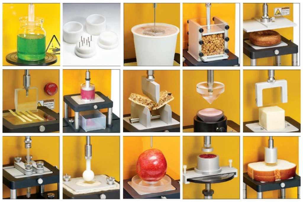 A range of texture analyser accessories