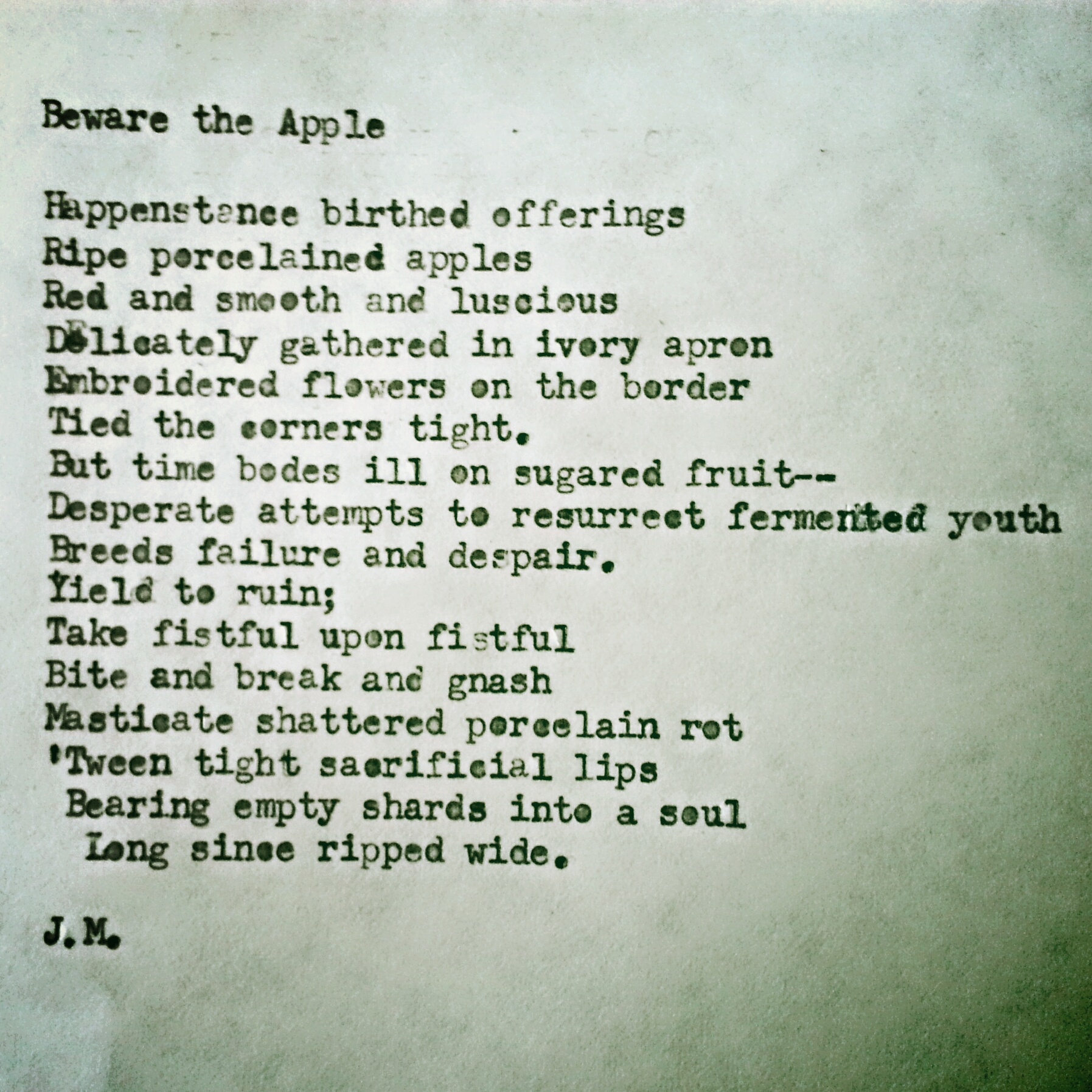 Beware the Apple (a poem)