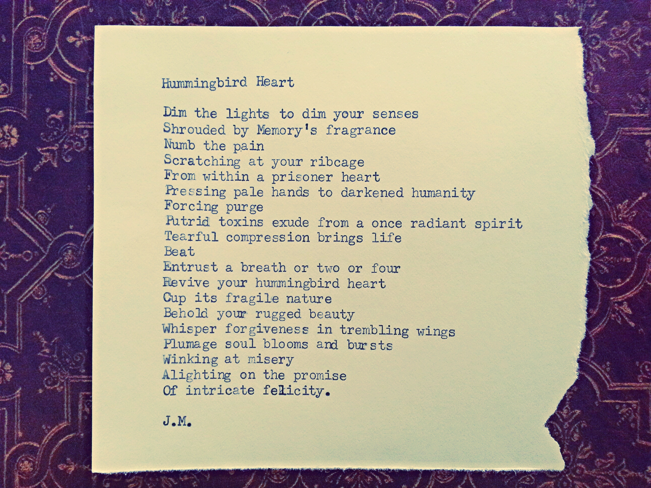 Hummingbird Heart (a poem)