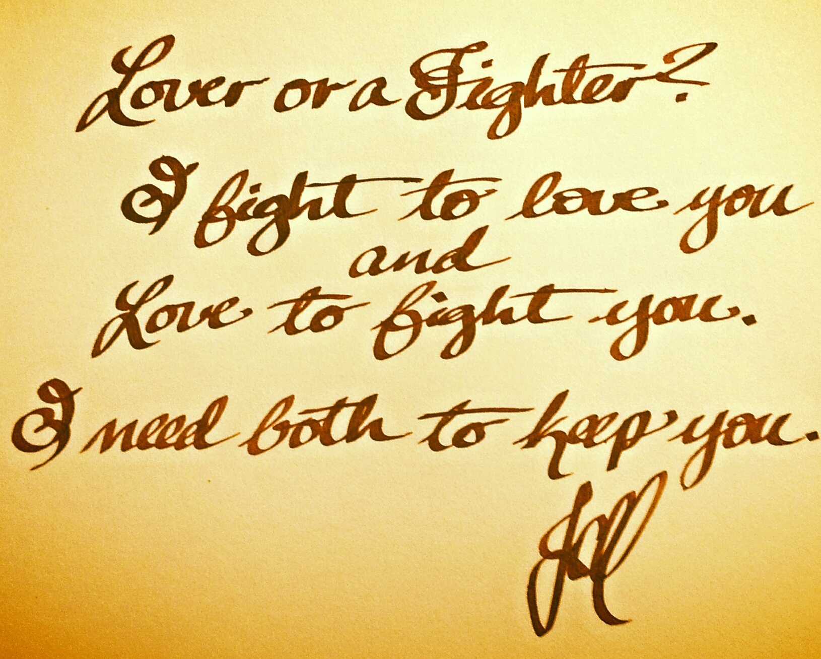 Lover or a Fighter? (Recollections Series)