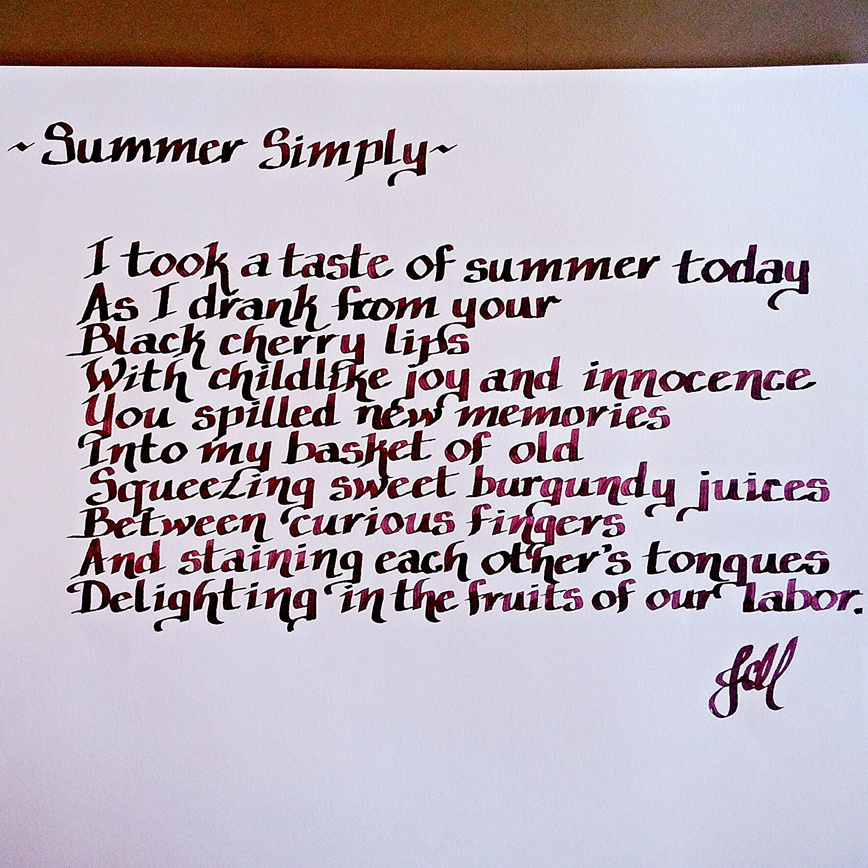 Summer Simply (a poem)