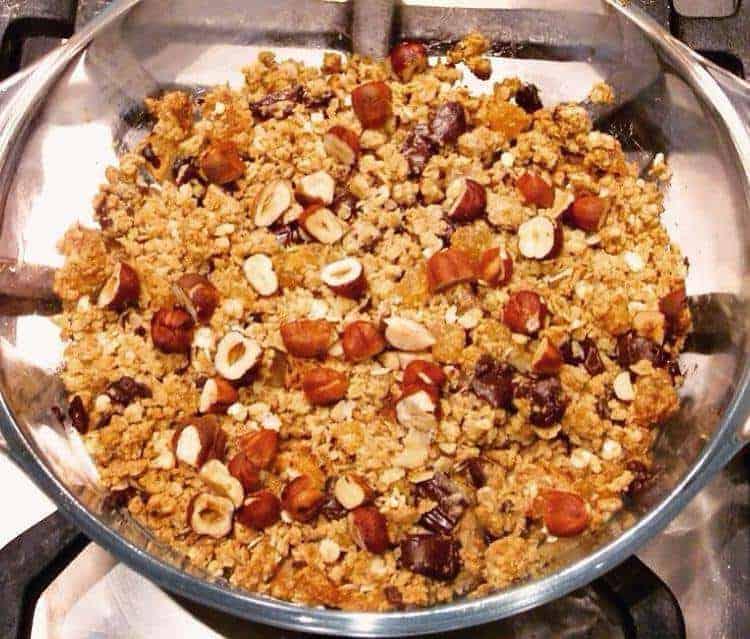 Gluten-Free Vegan Pear Dark Chocolate Crumble