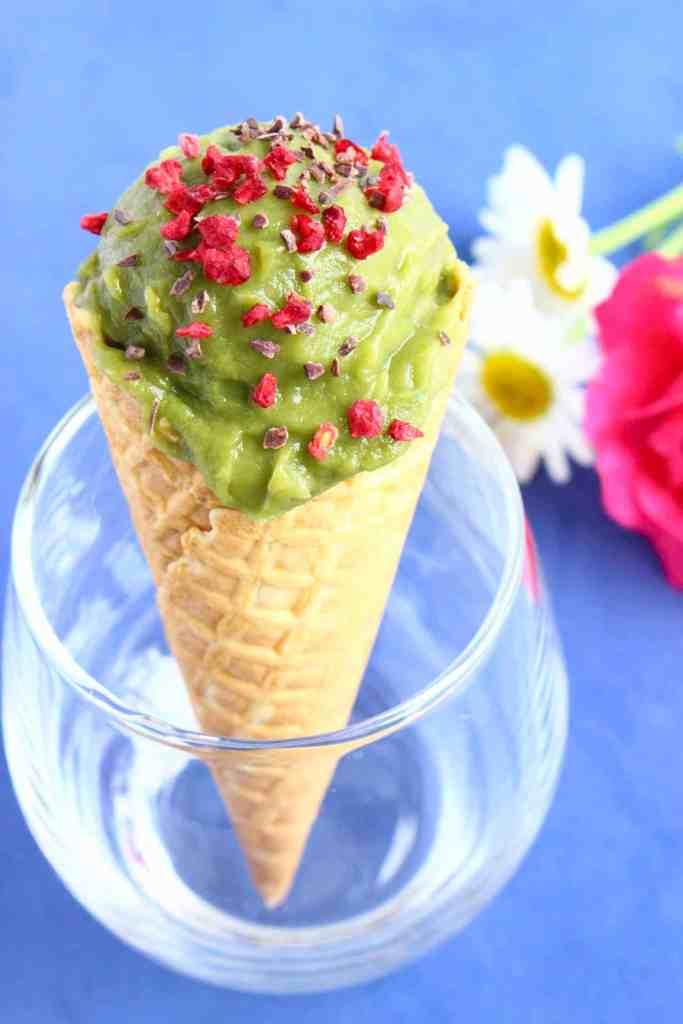 Vegan Matcha Sweet Potato Ice Cream