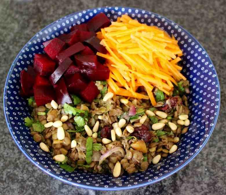 Spiced Puy Lentil Salad (Vegan + GF)