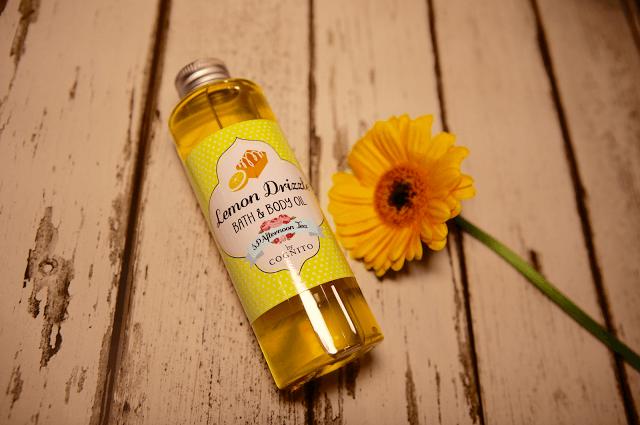 lemon drizzle bath oil