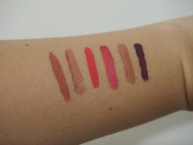 Liquid Lipstick Swatches 1