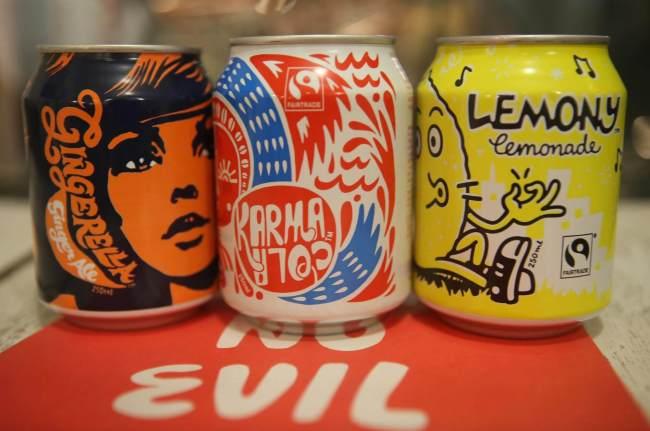 Karma Cola Cans