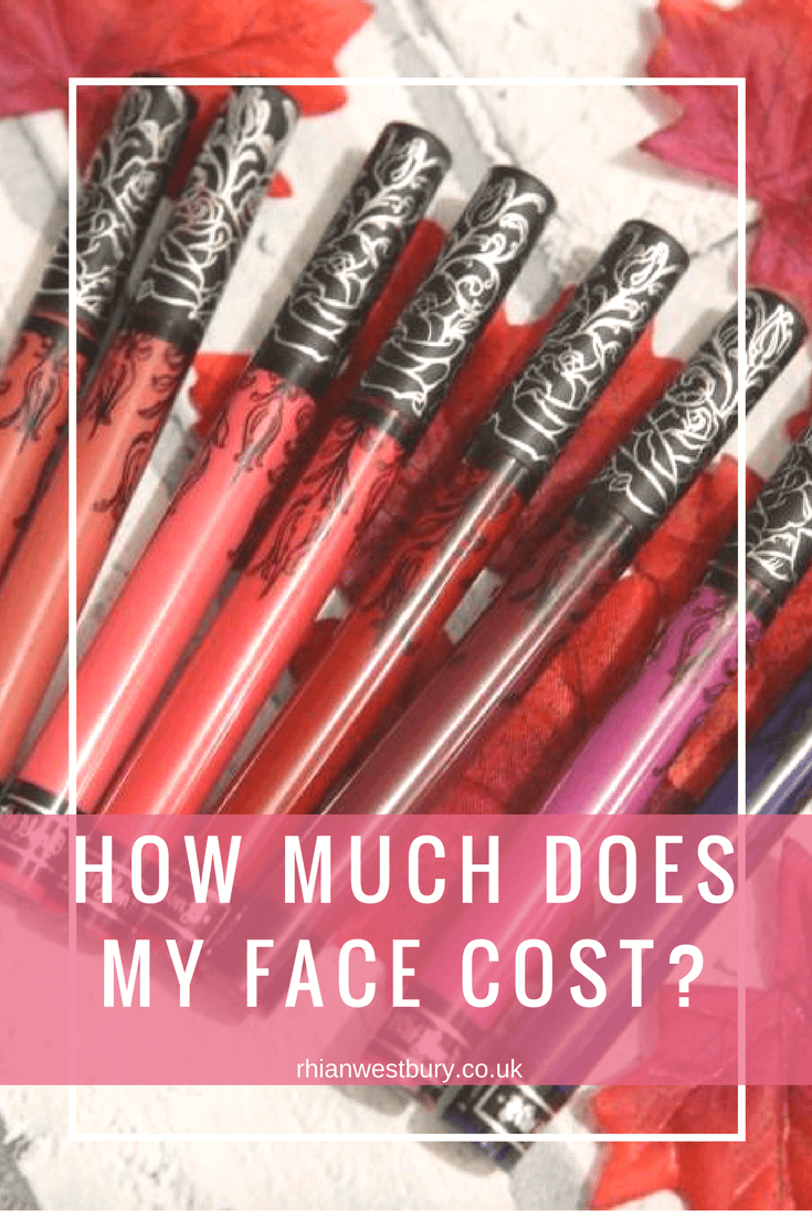 Have you ever taken a look at your makeup and asked How Much Does My Face Cost?