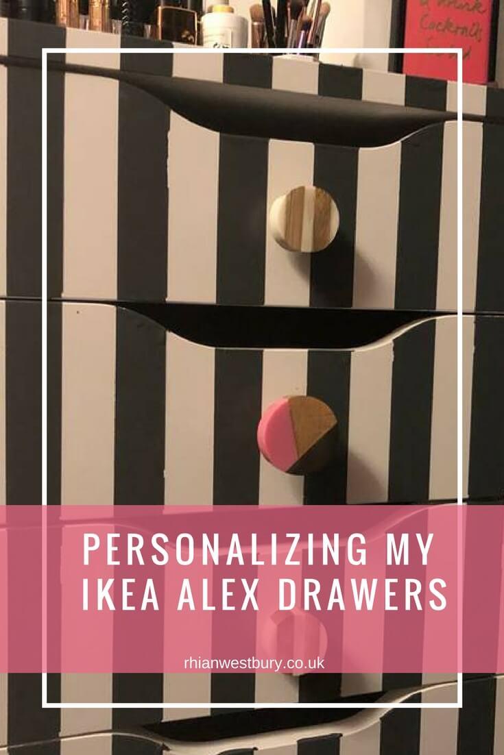 Personalizing My Ikea Alex Drawers