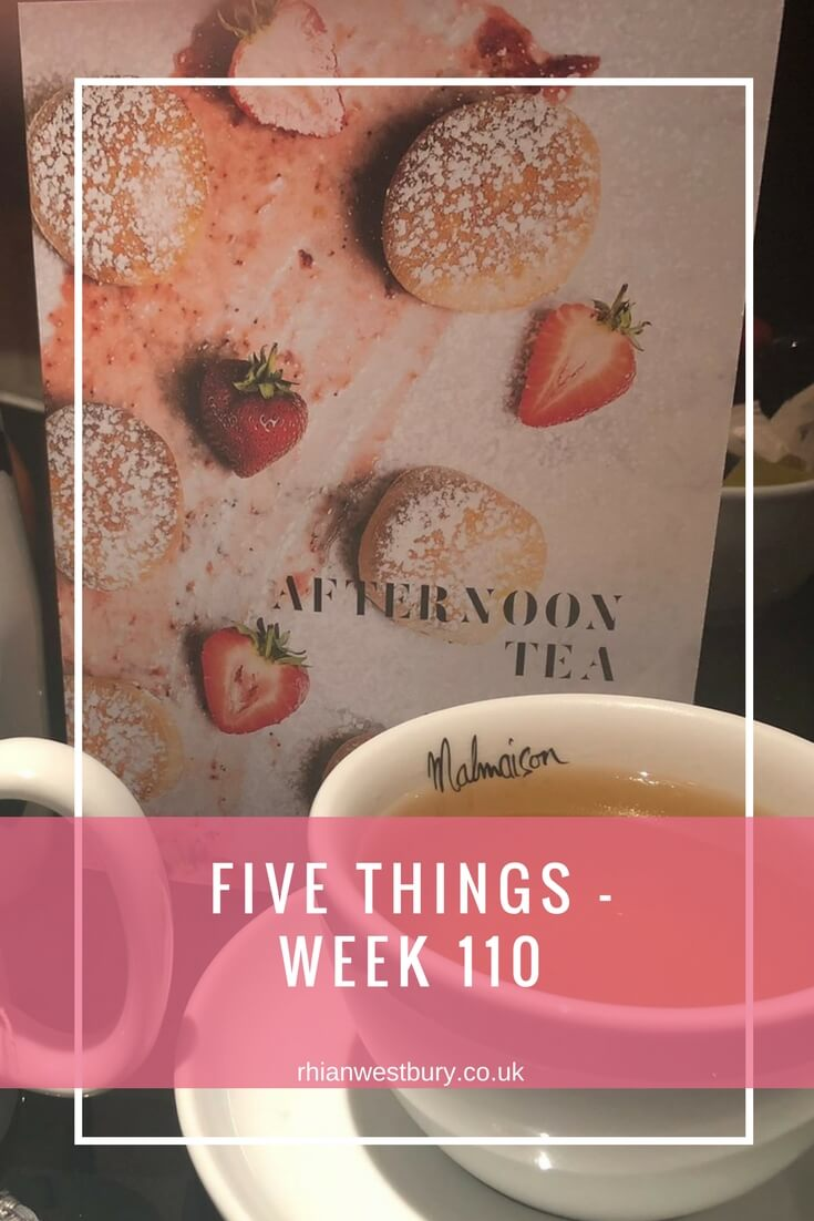 Five Things - Week 110. Check Out What I Got Up To This Week Including Live Music, Afternoon Tea and Cocktails