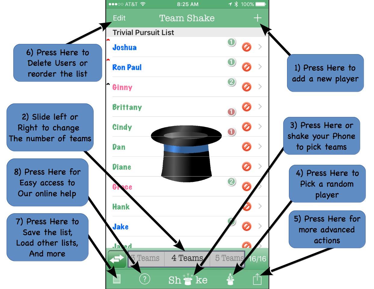 Team Shake Help (Apple Version) – Rhine-o Enterprises LLC