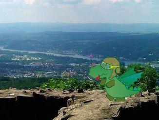 Dragon Tayfun on Mount Löwenburg, Siebengebirge, Bad Honnef
