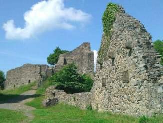 Medieval castle ruin Löwenburg, Siebengebirge, Bad Honnef