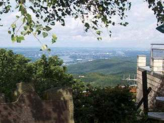 View over the Rhine, Königswinter and Bonn