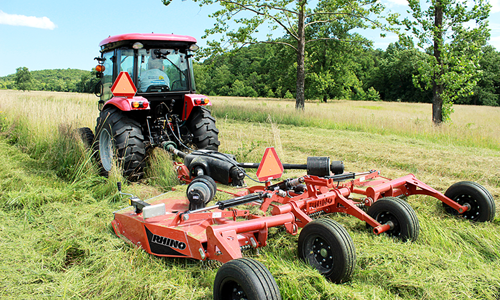 Rotary mower for tractor 12