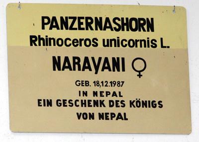 Infotafel Narayani, 28. Dezember 2009 (Foto: Jeroen Jacobs)