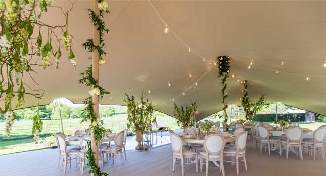 Inspiring stretch tent dcor ideas for weddings and parties junglespirit Choice Image