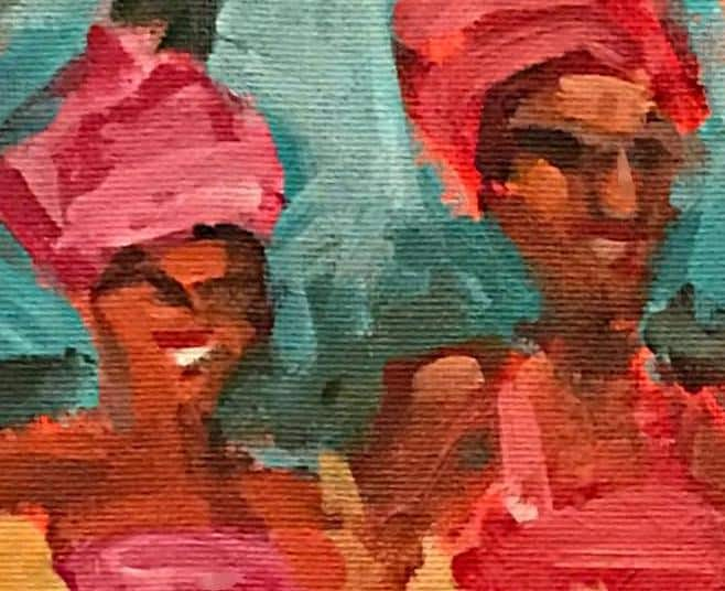 African 3CU-bridesmaids
