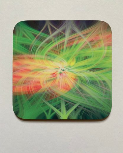 Field of Twirls on a photographic hardboard coaster. Square hardboard coaster with rounded edges. Size: 90x90x3mm Weight 0.1kg