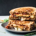 Eggplant Parmesan Grilled Cheese Sandwich