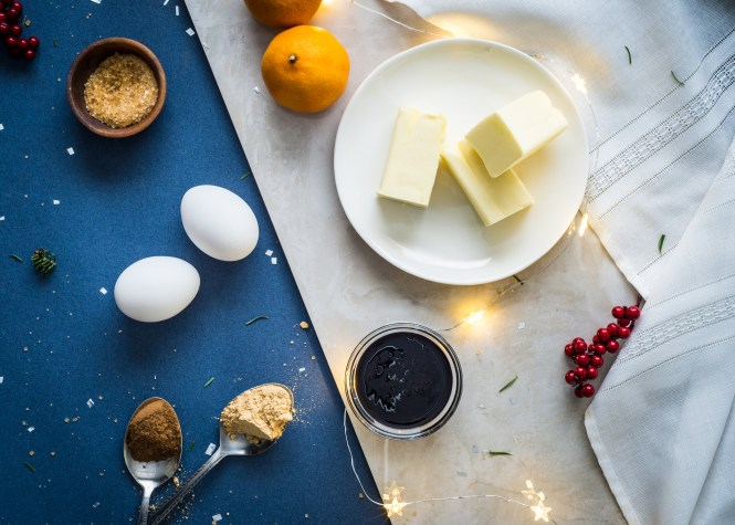 Ingredients - Five Spice Ginger Molasses Cookies