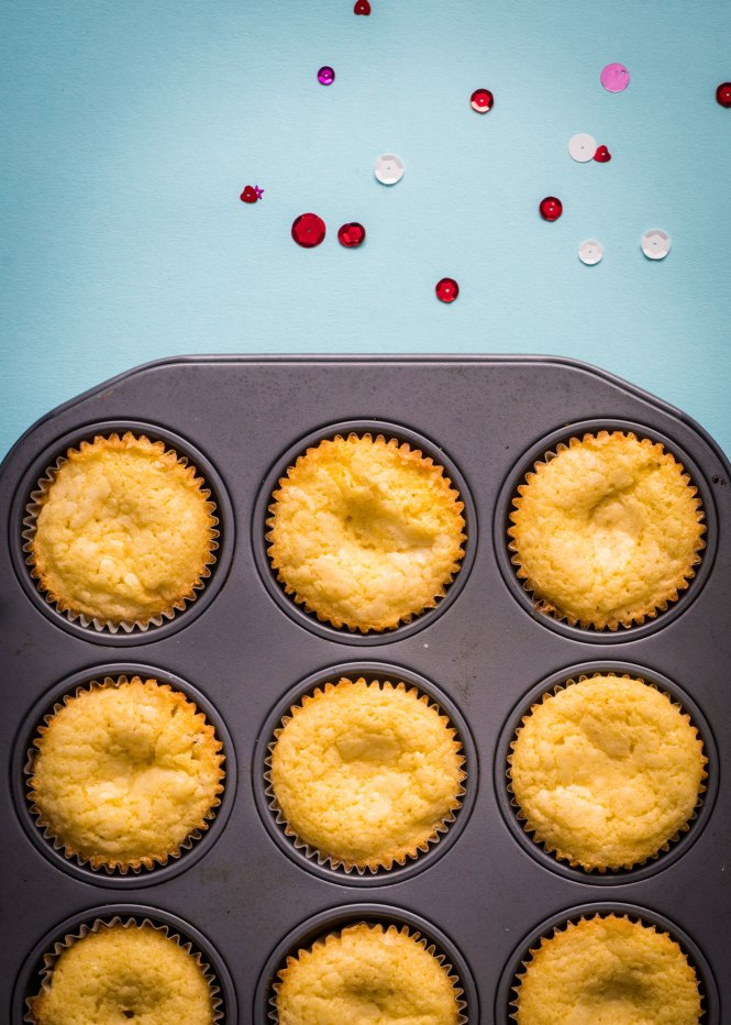 Victoria Sponge Cupcakes - Victoria Sponge Cupcakes with Strawberry Preserves