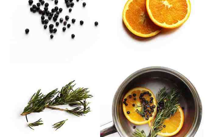 Orange juniper rosemary pot simmer
