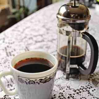 Colombian coffee brewed with aguapanela