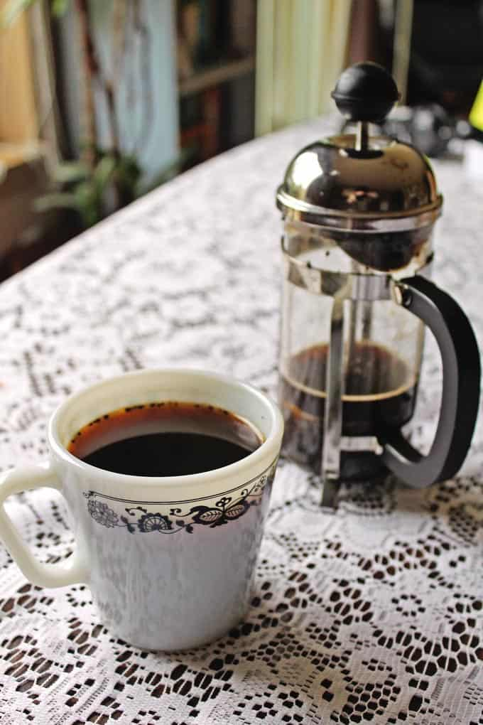 Colombian coffee brewed with aguapanela