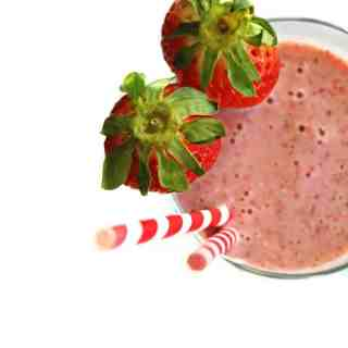 Strawberry banana buttermilk smoothie