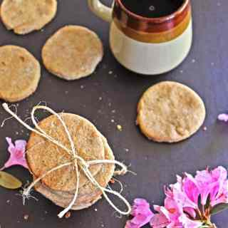 Chai and rose nankhatai cookies