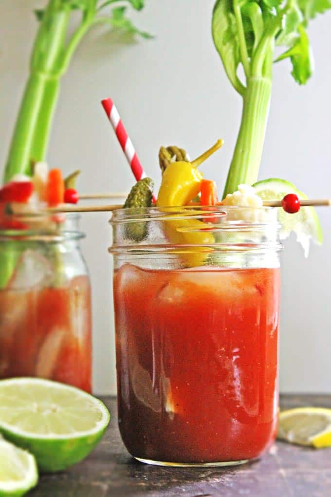 Dill pickle bloody mary recipe // Rhubarbarians