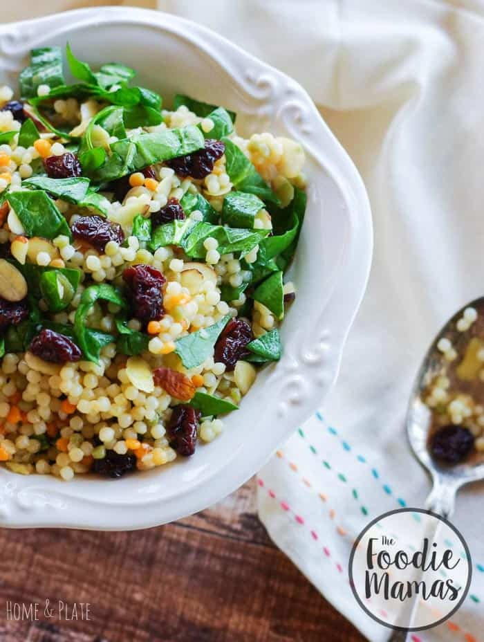Cherry almond Moroccan inspired couscous + 8 more delicious cherry recipes from The Foodiemamas!