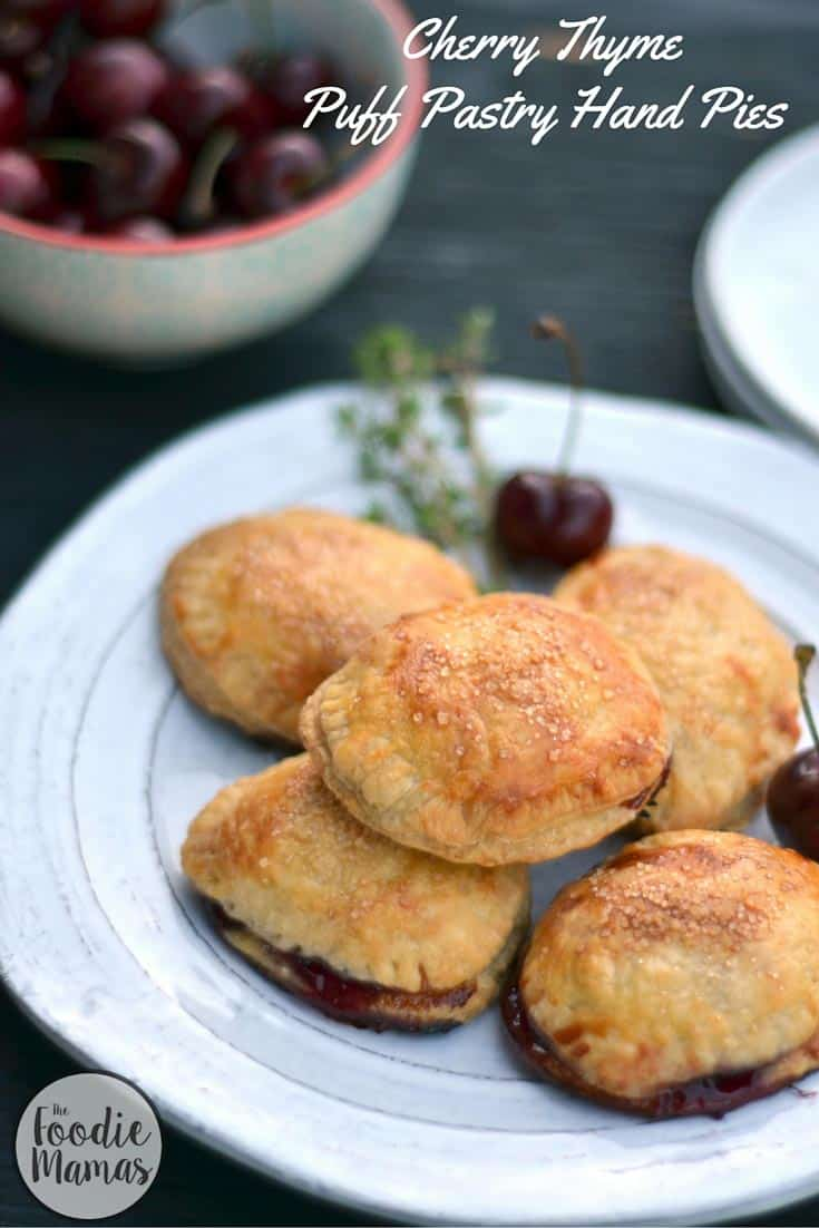 Cherry thyme puff pastry hand pies + 8 more delicious cherry recipes from The Foodiemamas!