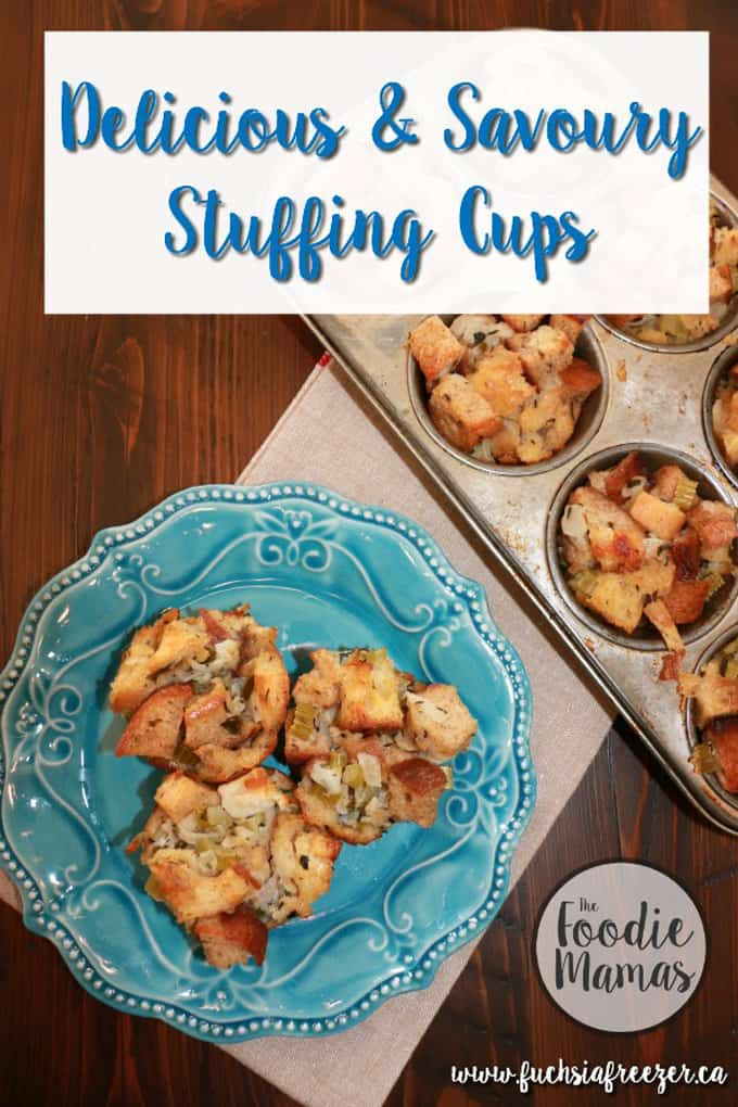 Delicious and savory stuffing cups + 14 amazing holiday side dishes! Amazing holiday side dish recipes from your favorite food bloggers, The Foodie Mamas!