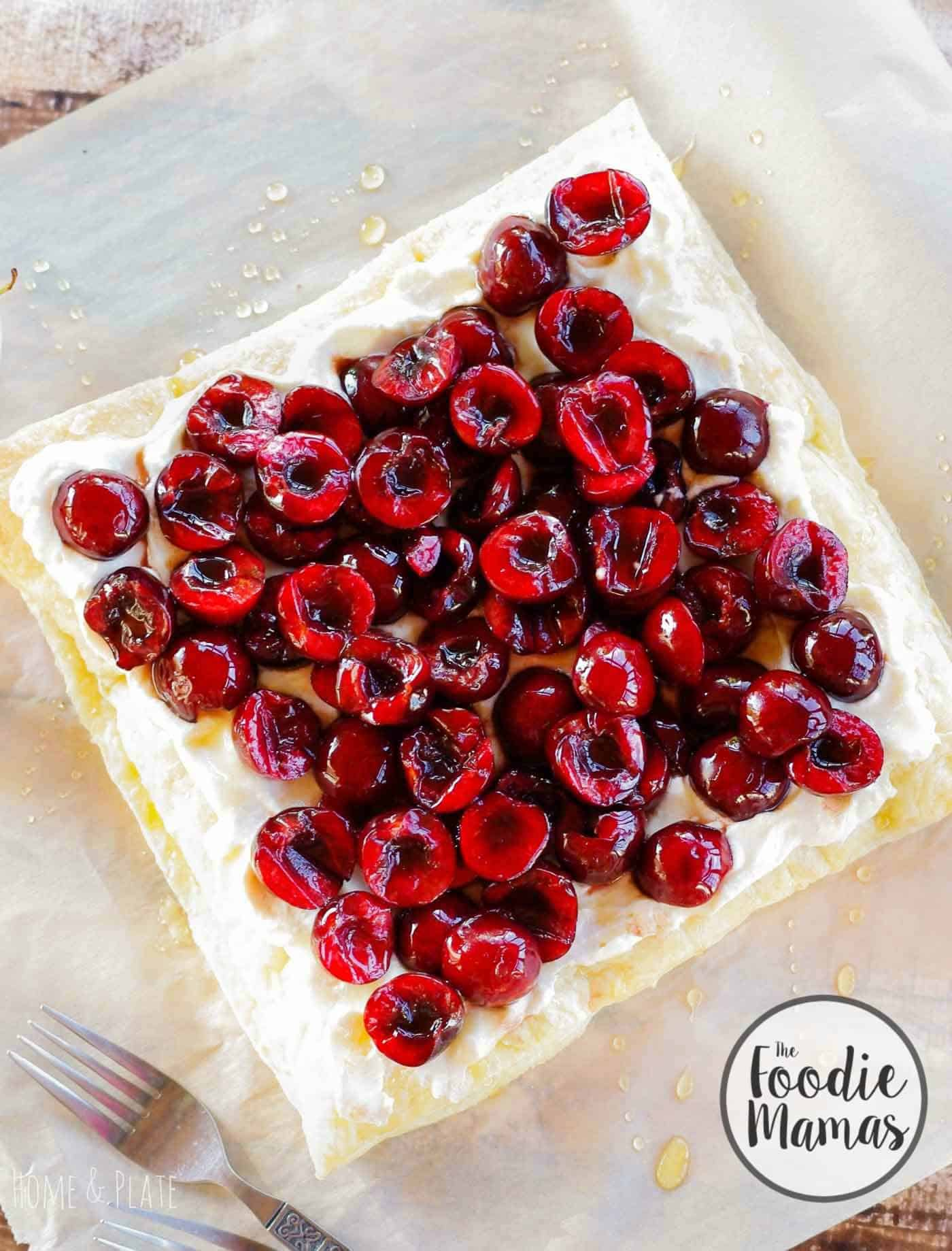Cherry honey ricotta tart + 10 amazing holiday dessert recipes! Amazing holiday dessert recipes from your favorite food bloggers, The Foodie Mamas!